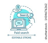 paid search blue concept icon.... | Shutterstock .eps vector #1434676262