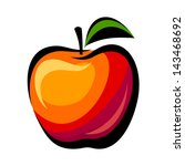 Apple. Vector Illustration.