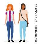 young women flat illustration.... | Shutterstock .eps vector #1434722582