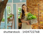 rearranging details. cheerful... | Shutterstock . vector #1434722768