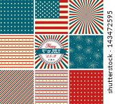 red white and blue  stars and... | Shutterstock .eps vector #143472595