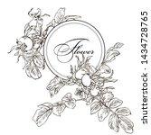 hand drawn graphic flower dog...   Shutterstock . vector #1434728765