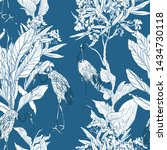 seamless pattern chinoiserie...   Shutterstock .eps vector #1434730118