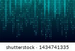 creative stream of binary code... | Shutterstock . vector #1434741335