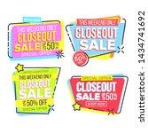 closeout sale template banner... | Shutterstock . vector #1434741692