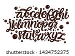latin alphabet made of dark... | Shutterstock .eps vector #1434752375