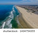 Aerial View Of Huntington Beach ...