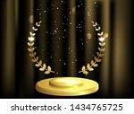 detailed round golden laurel...   Shutterstock .eps vector #1434765725
