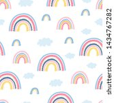 seamless pattern with rainbow ... | Shutterstock .eps vector #1434767282