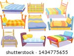 set icons furniture double bed... | Shutterstock .eps vector #1434775655