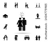 hugging couple and hearts icon. ... | Shutterstock .eps vector #1434775985