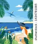 summer tropical islands... | Shutterstock .eps vector #1434781085