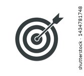 the arrow presses the target... | Shutterstock .eps vector #1434781748