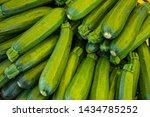 fresh green zucchini or...   Shutterstock . vector #1434785252