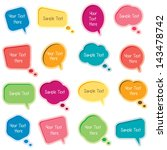 bubble message set | Shutterstock .eps vector #143478742