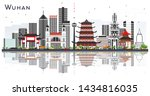 wuhan china city skyline with... | Shutterstock .eps vector #1434816035