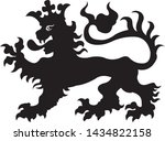 heraldic lion tattoo. black  ...   Shutterstock .eps vector #1434822158