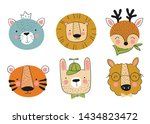 vector collection of cute hand... | Shutterstock .eps vector #1434823472