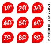 sale or discount label. 10 20... | Shutterstock . vector #1434832505