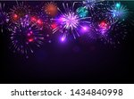 Colorful Fireworks Vector On...