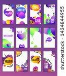 set of editable templates of...   Shutterstock .eps vector #1434844955