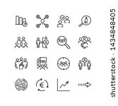 employee search icons. set of... | Shutterstock .eps vector #1434848405