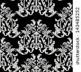 baroque style floral seamless... | Shutterstock .eps vector #143485252