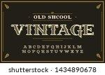 vintage decorative font.... | Shutterstock .eps vector #1434890678