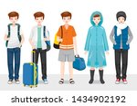 set of man clothing wearing in... | Shutterstock .eps vector #1434902192