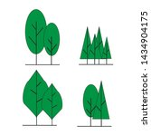 tree icons  set of trees. and...   Shutterstock .eps vector #1434904175