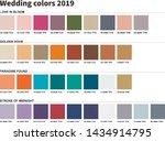 wedding colors 2019. an example ... | Shutterstock .eps vector #1434914795