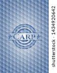 carp blue badge with geometric... | Shutterstock .eps vector #1434920642