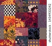 vintage modern collage of... | Shutterstock .eps vector #1434933242