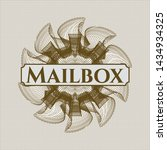 brown rosette or money style... | Shutterstock .eps vector #1434934325