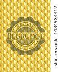 begrudge gold emblem or badge.... | Shutterstock .eps vector #1434934412