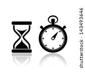 vector stopwatch icons | Shutterstock .eps vector #143493646