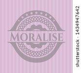 moralise pink emblem. vector... | Shutterstock .eps vector #1434947642