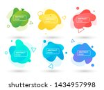 set of abstract liquid shapes...   Shutterstock .eps vector #1434957998