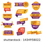 set of retail sale tags.... | Shutterstock .eps vector #1434958022