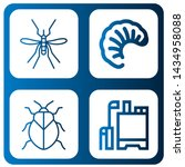 set of mosquito icons such as... | Shutterstock .eps vector #1434958088