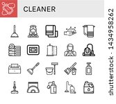 set of cleaner icons such as... | Shutterstock .eps vector #1434958262