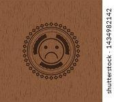 sad face icon inside vintage... | Shutterstock .eps vector #1434982142