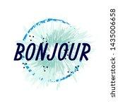 bonjour has mean congrats ... | Shutterstock .eps vector #1435006658