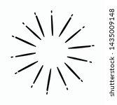 vintage hand drawn sunburst... | Shutterstock .eps vector #1435009148