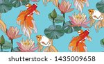 botanical seamless pattern ... | Shutterstock .eps vector #1435009658