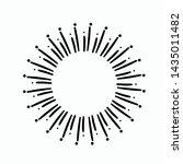 vintage hand drawn sunburst... | Shutterstock .eps vector #1435011482