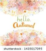 hello  autumn  hand drawn... | Shutterstock .eps vector #1435017095