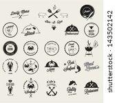 restaurant  vector icon set | Shutterstock .eps vector #143502142