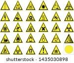 symbols triangular warning... | Shutterstock .eps vector #1435030898