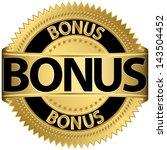 bonus golden label  vector...   Shutterstock .eps vector #143504452